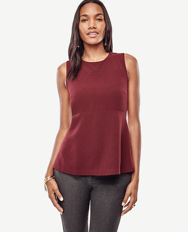 Image of Petite Curved Hem Top