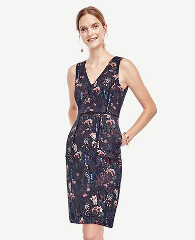 Image of Petite Night Garden Pocket Dress