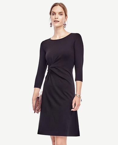 Image of Petite Ponte Twist Dress