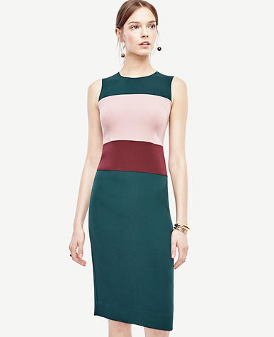 Image of Petite Colorblock Sheath Dress