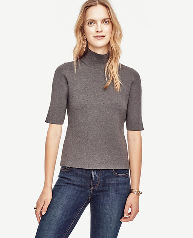 Image of Mock Neck Pullover