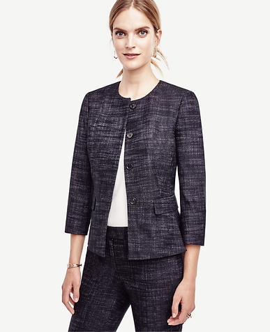 Image of Crosshatch Tweed Peplum Jacket