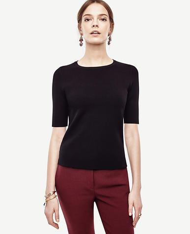 Image of Petite Crew Neck Topper