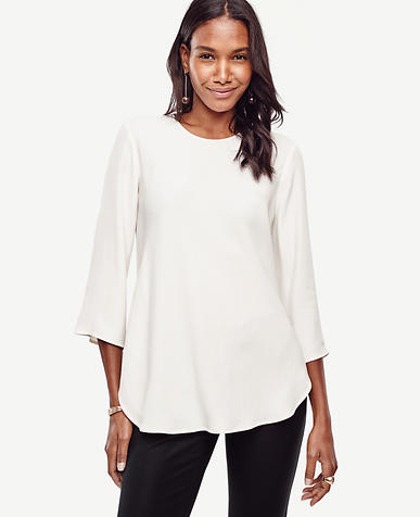 Image of Petite Crepe Swing Tunic