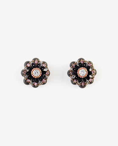 Image of Jeweled Flower Stud Earrings