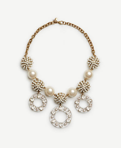 Image of Pearlized Lucite Statement Necklace