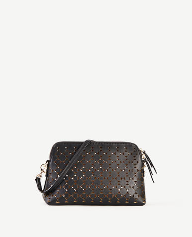 Image of Signature Laser Cut Crossbody Bag