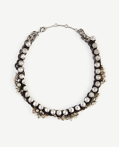 Image of Ribbon Chain Statement Necklace