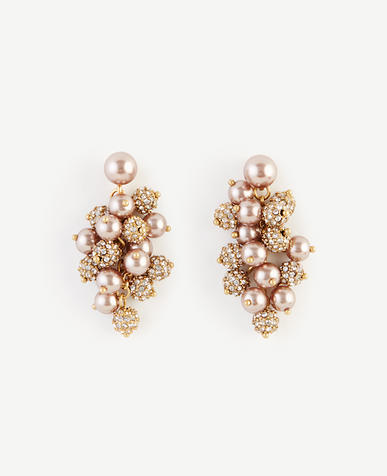 Image of Pearlized Cluster Earrings