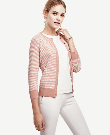 Image of Geo 3/4 Sleeve Ann Cardigan