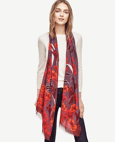 Image of Floral Fantasy Scarf