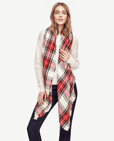Image of Tartan Plaid Scarf