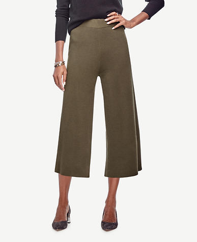 Image of Knit Wide Leg Crop Pants