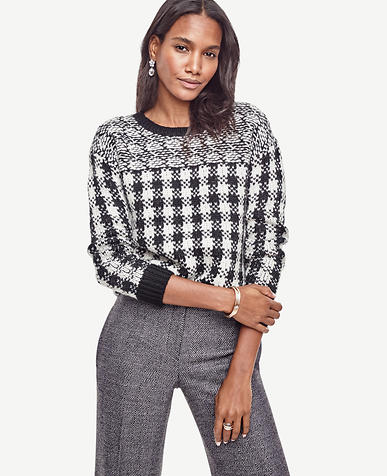 Image of Petite Buffalo Check Pullover
