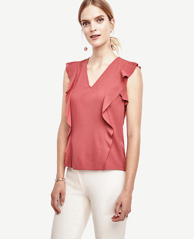 Image of Flutter V-Neck Top