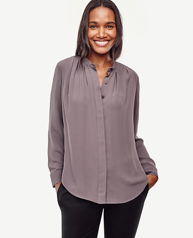 Image of Petite Button Down Blouse