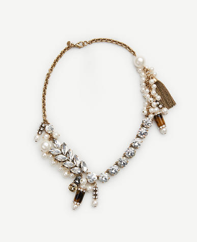 Image of Geometric Crystal Statement Necklace