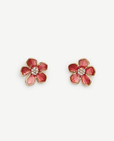 Image of Enamel Floral Mini Stud Earrings