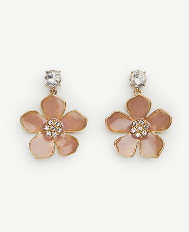 Image of Enamel Floral Drop Earrings