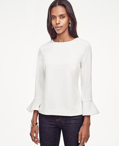 Image of Crepe Bell Sleeve Top