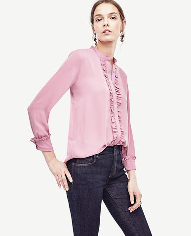 Image of Georgette Ruffle Blouse