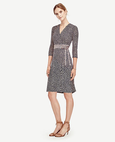 Image of Leafy Wrap Dress