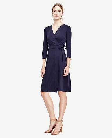 Image of Tall 3/4 Sleeve Wrap Dress