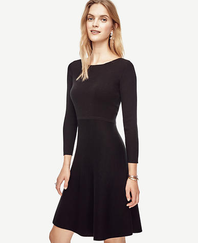 Image of Extrafine Merino Wool Flare Sweater Dress