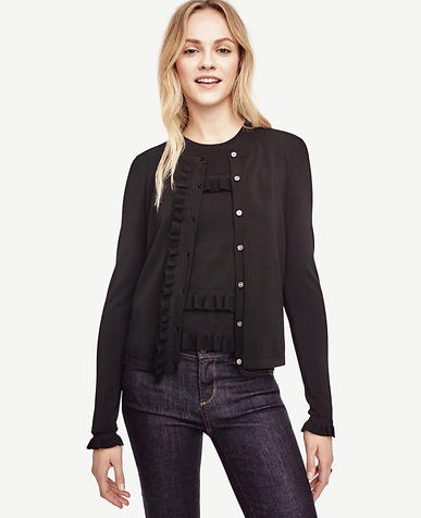 Image of Ruffle Cropped Cardigan