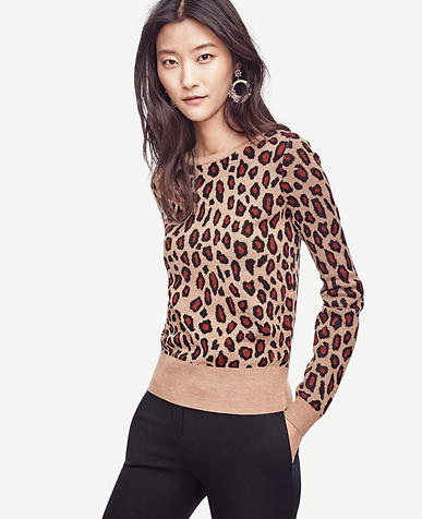 Image of Leopard Jacquard Sweater