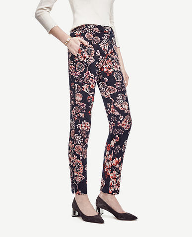 Image of Tall Winter Geranium Jacquard Ankle Pants