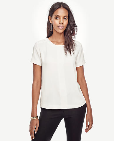 Image of Petite Shoulder Button Tee