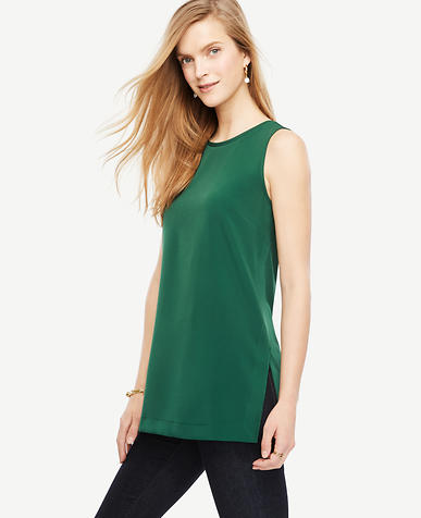 Image of Matte Jersey Side Slit Tunic