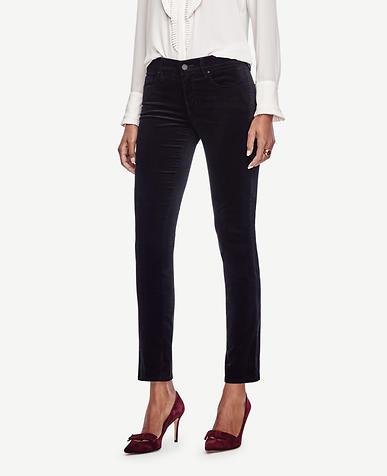 Image of Curvy Skinny Velvet Jeans