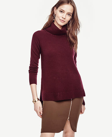 Image of Cashmere Turtleneck Tunic Sweater