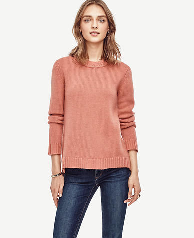 Image of Cashmere Curved Hem Tunic Sweater