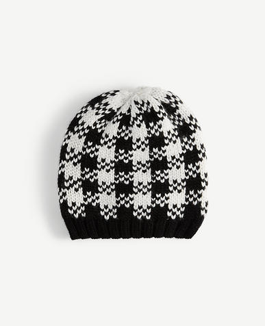 Image of Houndstooth Sweater Hat