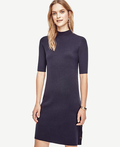 Image of Side Button Sweater Dress