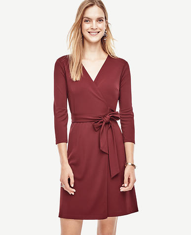 Image of 3/4 Sleeve Wrap Dress