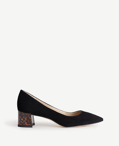 Image of Bette Suede Metal Heel Pumps