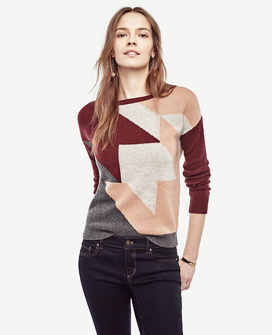 Image of Colorblock Houndstooth Sweater