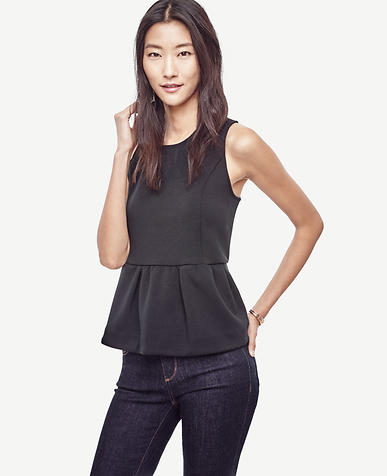 Image of Double Faced Peplum Top