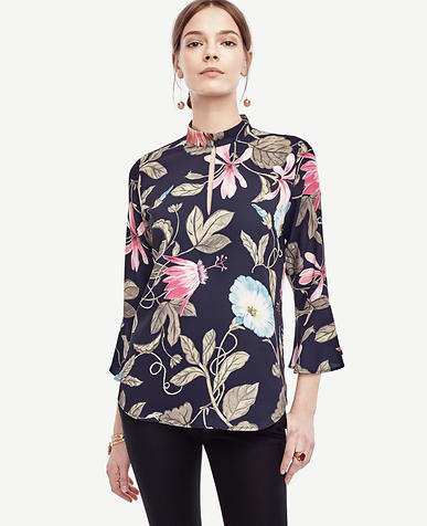 Image of Petite Morning Glory Fluted Blouse