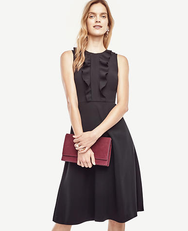 Image of Petite Cascading Ruffle Dress