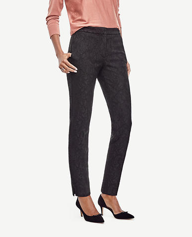 Image of Petite Lace Ankle Pants