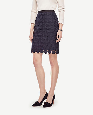 Image of Petite Circle Lace Skirt