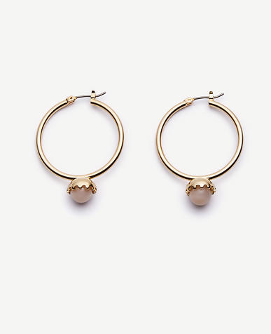 Image of Round Stone Hoops
