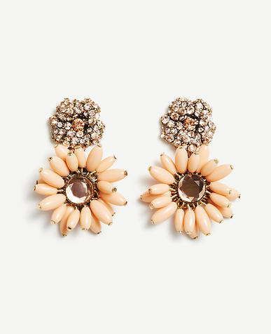 Image of Flower Charm Statement Earrings