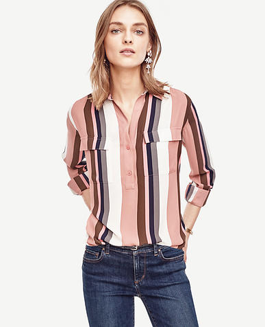 Image of Mixed Stripe Camp Popover