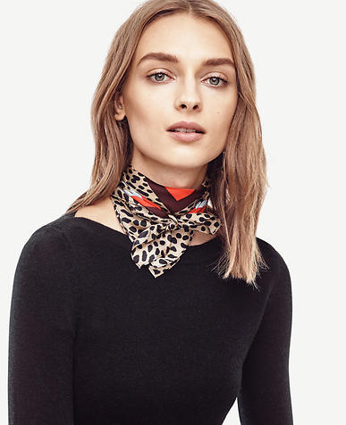 Image of Spotted Silk Little Scarf